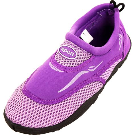womens water shoes aqua sock slip on pool swim surf