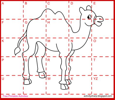 drawing activities free printable drawing activity camel drawing activities