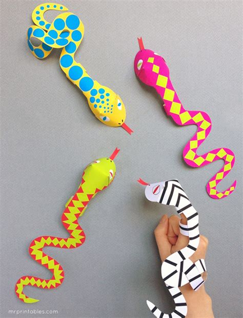Snake Finger Puppets Mr Printables | snake finger puppets mr printables