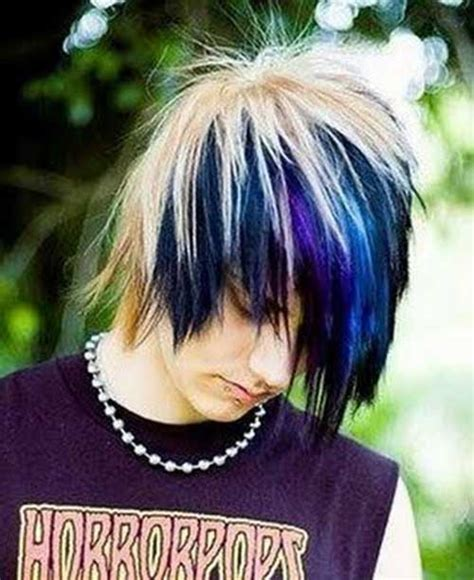 emo hairstyles blue and blonde 15 new guy with blue hair mens hairstyles 2018