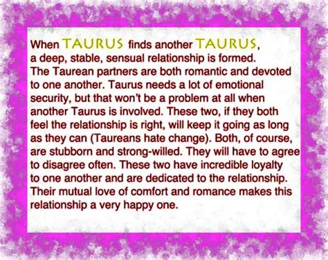 taurus relationships compatibility