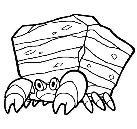 pokemon coloring pages scraggy dwebble coloring pages pictures to pin on pinterest