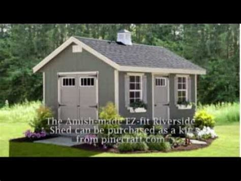 Ez Fit Sheds Reviews by Amish Made Ez Fit Riverside Shed Kit