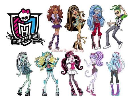 New York Wall Decal Sticker monster high 9 characters logo decal removable wall