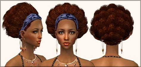 afro hairstyles sims 2 mod the sims afro hairband an afro hairdo for our