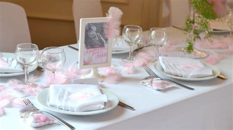 Decoration De Table Pour Bapteme Garcon by Deco Bapteme Fille Plume