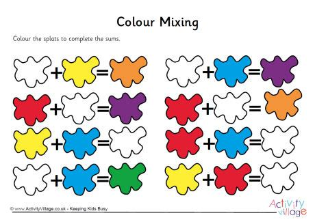 colour mixing worksheet 3