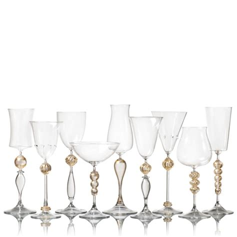 crystal barware gold crystal stemware