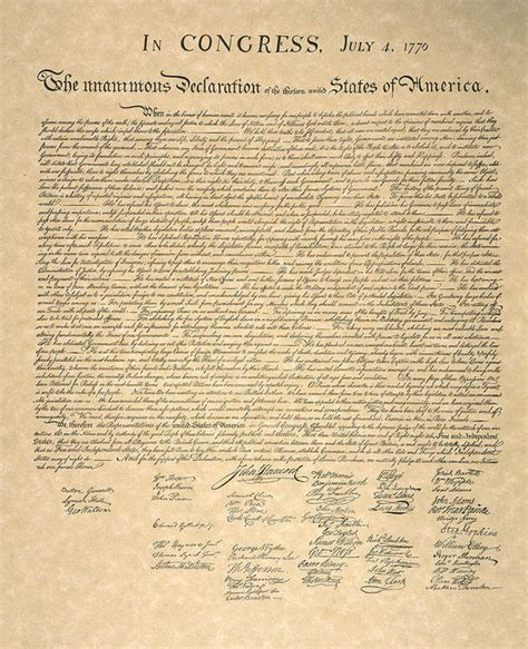 printable declaration of independence declaration of independence art print by granger