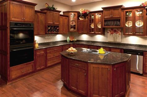 Kitchen Design Cherry Cabinets Natural Cherry Stain Wood Cabinets Maple Doors