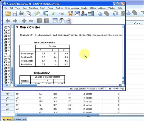 spss tutorial cluster analysis spss k means clustering youtube