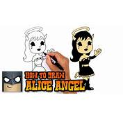 How To Draw Alice Angel  Bendy And The Ink Machine YouTube