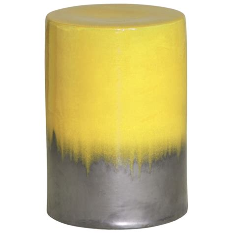 Mustard Colored Stool by Two Tone Mustard Yellow Garden Stool Seven Colonial