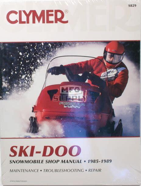 Cs829 85 89 Ski Doo Snowmobile Shop Manual Snowmobile