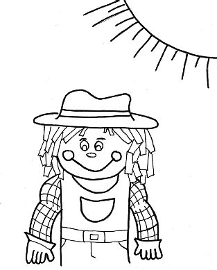 scarecrow hat coloring page coloring pages