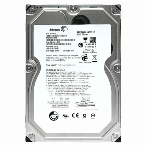 Seagate 1tb 7200 12 seagate 1tb barracuda 7200 12 st31000528as sata2 7200 32m