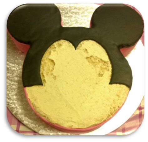 just baking minnie mouse cake and a tutorial
