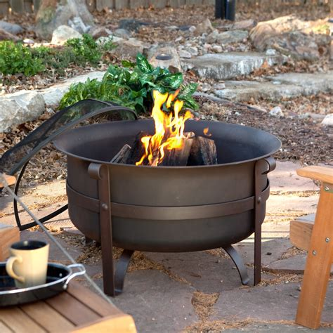 Portable Propane Fireplace by Red Ember Brockton Steel Cauldron Fire Pit With Free Cover