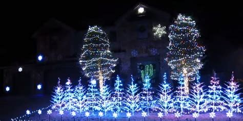 frozen themed christmas lights family goes all in with frozen themed holiday light