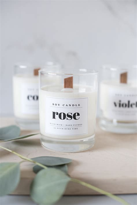 design labels for candles wood wick soy candle diy with downloadable labels coco