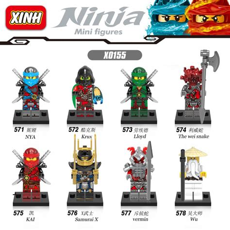 aliexpress buy ninjago lloyd nya krux samurai x