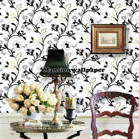 wallpaper hitam dinding jual wallpaper dinding bunga modern hitam mansion