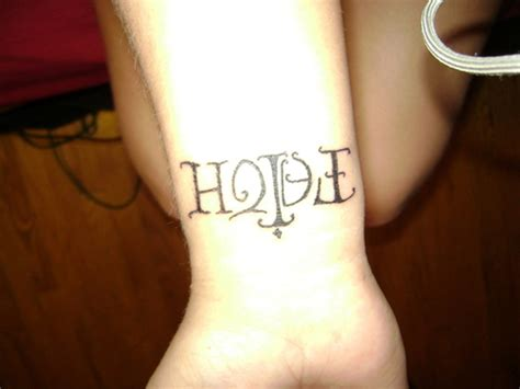 hope tattoo wrist 52 lovely wrist tattoos