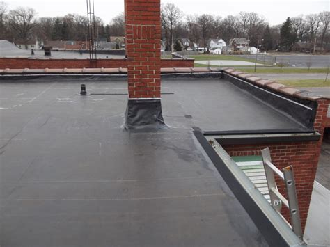 new epdm flat roof installed rubber epdm roofing stevers roof side remodel toledo roofing stevers roof side