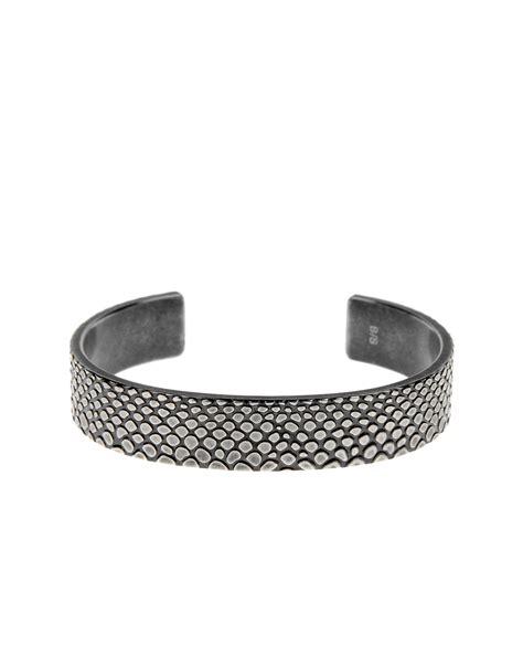calvin klein bracelet in silver lyst