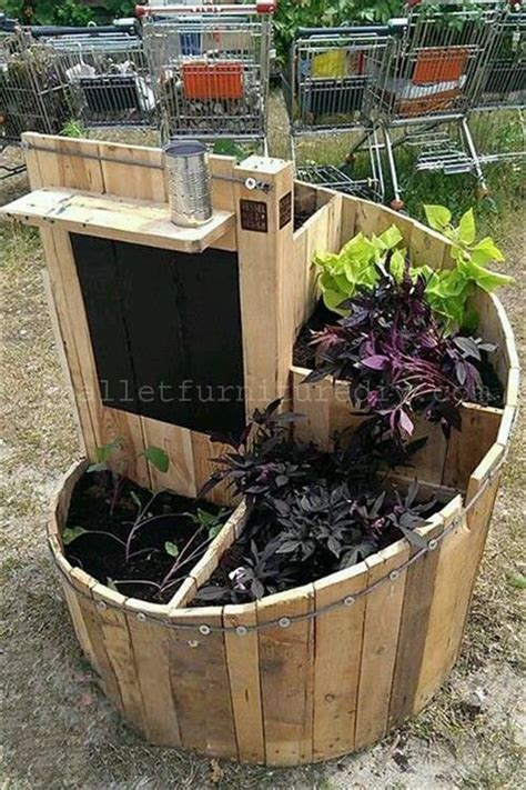 Outdoor Planter Box Ideas by Diy Pallet Planter Box Ideas Pallets Designs