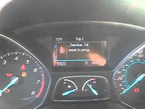 2012 ford focus oil light reset 2013 ford escape oil life reset youtube