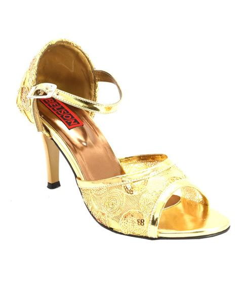 comfortable gold shoes belson gold comfortable party wear stiletto heel sandals