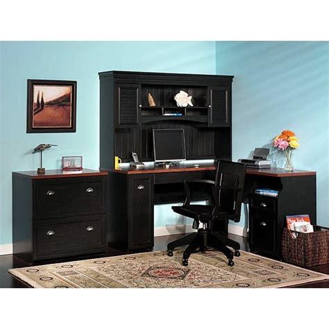 bush furniture fairview  shaped wood home office desk ebay