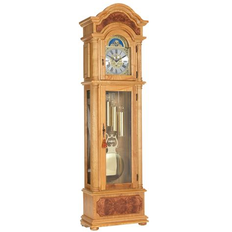 grandfather clock light oak triple chime grandfather clock grandfather