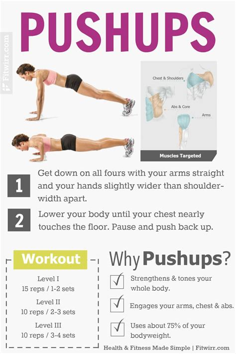 push up workout at home for beginners workout