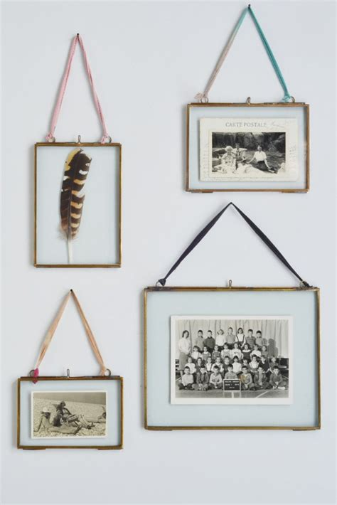 hanging picture sided picture frame brass metal photo frame decorator s notebook