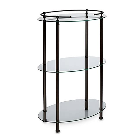 bed bath and beyond shelving gatco 3 shelf oval taboret in bronze bed bath beyond
