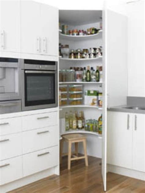Corner Pantry by Kitchen Corner Pantry Kitchen Storage Ideas By Masters