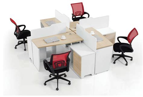 Fashionable Office Workstation Partitions 4 Person Desk 4 Person Desk