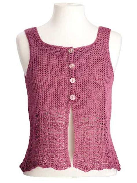 elisa sleeveless crochet top allfreecrochet