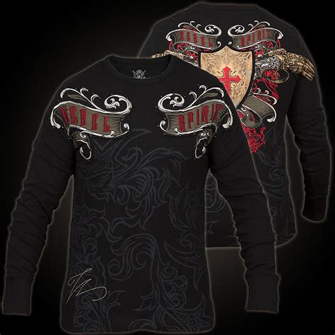rebel spirit sleeve th 121397 thermal in black l s