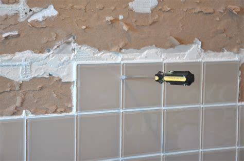 ceramic tile backsplash removal images