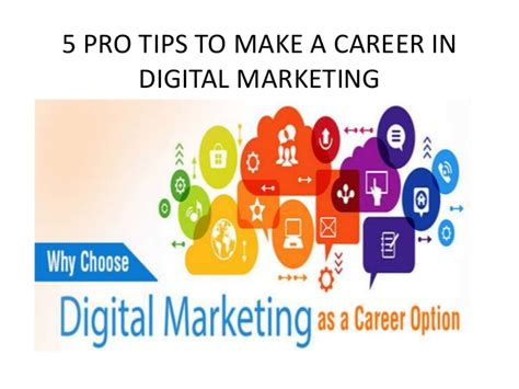 Digital Marketing Degree Florida 5 by 5 Pro Tips To Make A Career In Digital Marketing