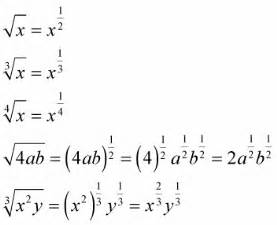 how to convert square roots to exponents dummies