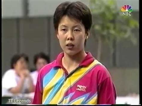 wang chen table tennis 1997 japan table tennis open women s final wang chen vs