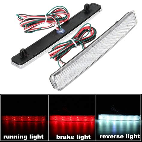 running lights for runners 2x 24 led auto rear reflectors bumper tail fog l brake
