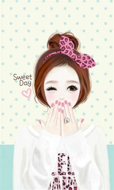 wallpaper cartoon ladies 50 best images about korean cute cartoon on pinterest