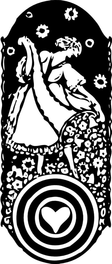 OnlineLabels Clip Art - Maid With Cornucopia