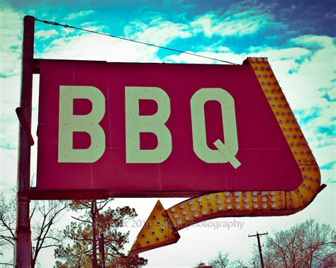 photography bbq sign restaurant decor retro sign