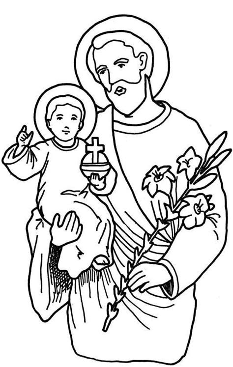 st joseph coloring page catholic pinterest
